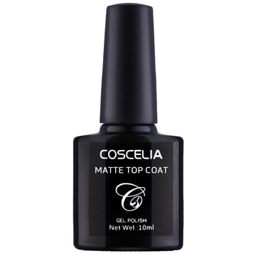Coscelia 10ml Matte Top Coat Soak off Nail UV Gel Polish