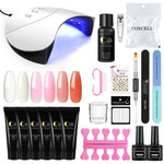 COSCELIA 6Pcs Poly Gel UV Builder Gel Kit Manicure Set Nail Extension Kit