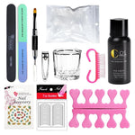COSCELIA Poly Gel Nail Tools Kit Manicure Set Nail Extension Kits