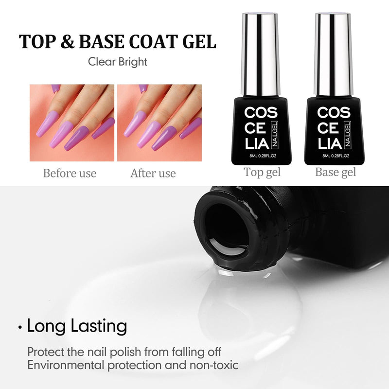 8pc temperature changing gel polish kit with 24w lamp