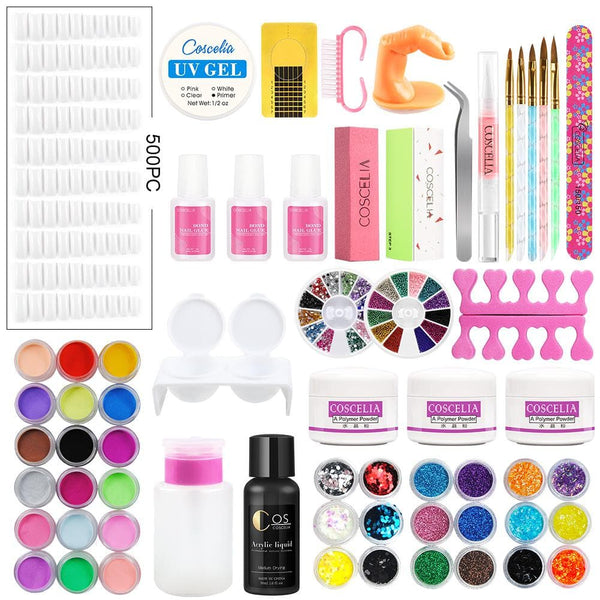 3pc Acrylic Nail Kit with 30ml Acrylic Liquid