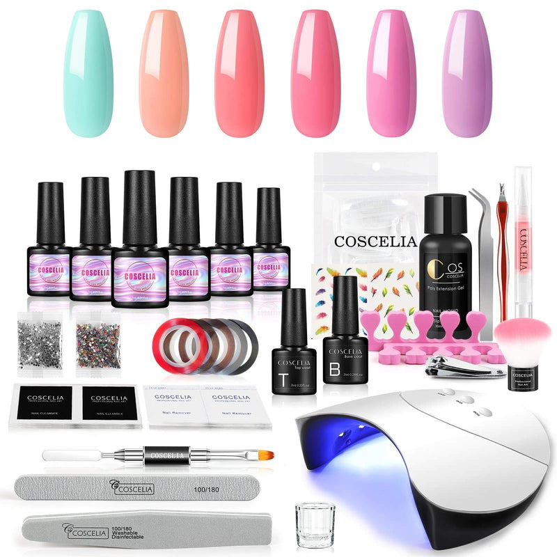 6pc gel polish kit with 36w lamp eu