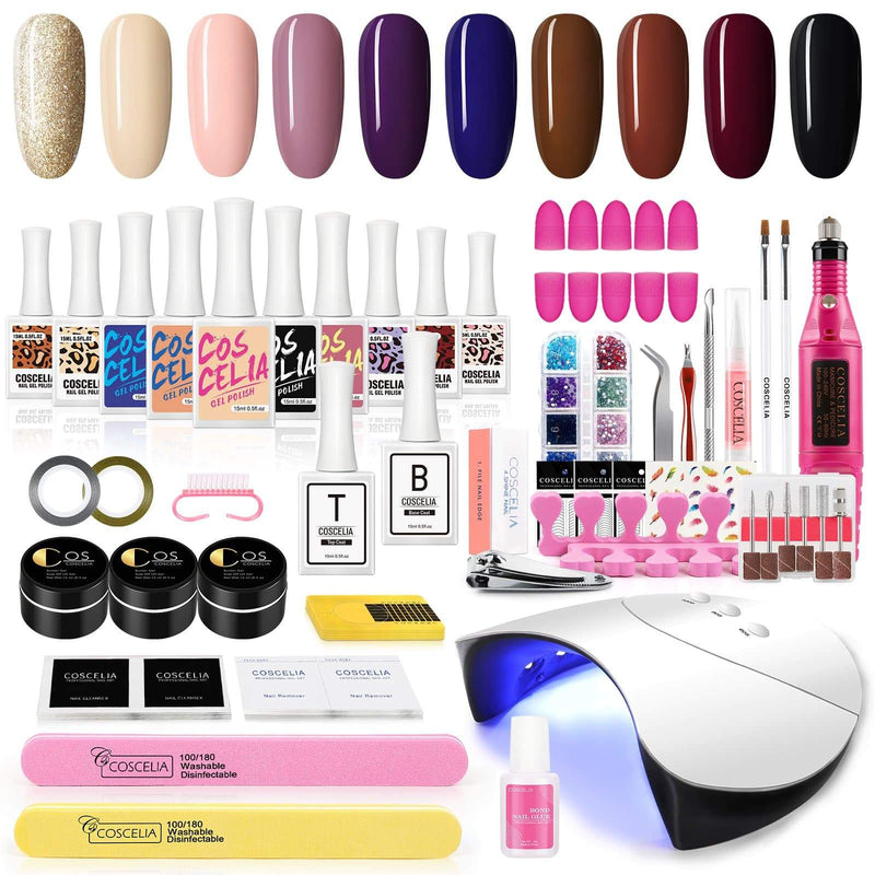 10pc gel polish kit with 36w lamp eu