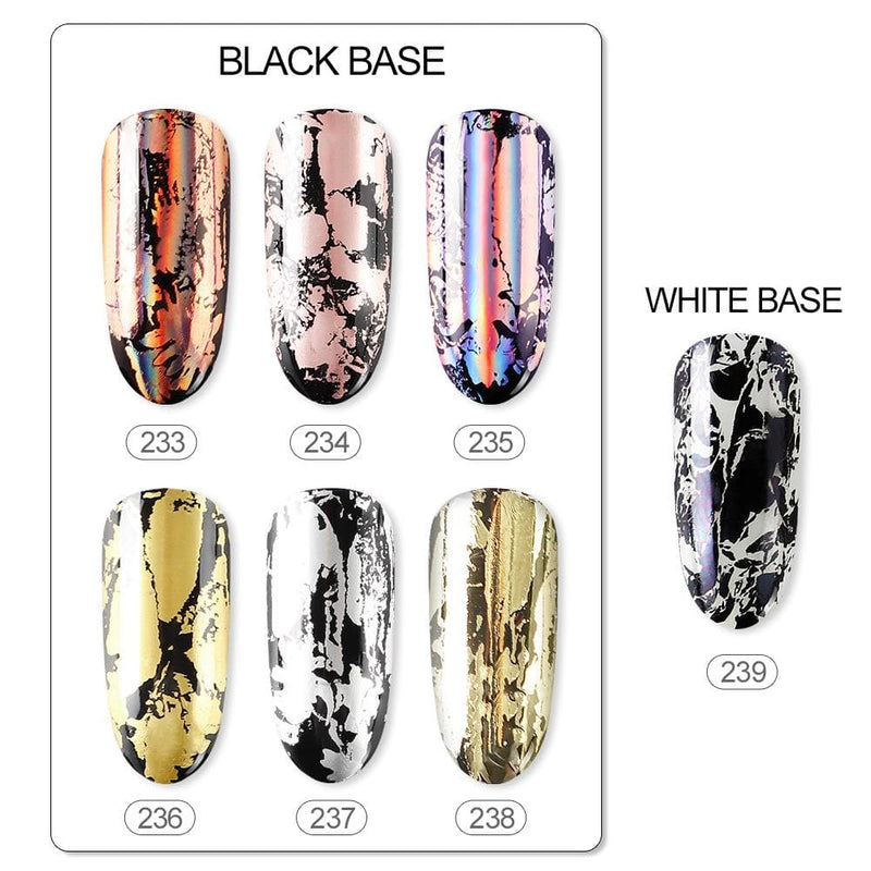 Holographic Nails Foils Glitter Stickers