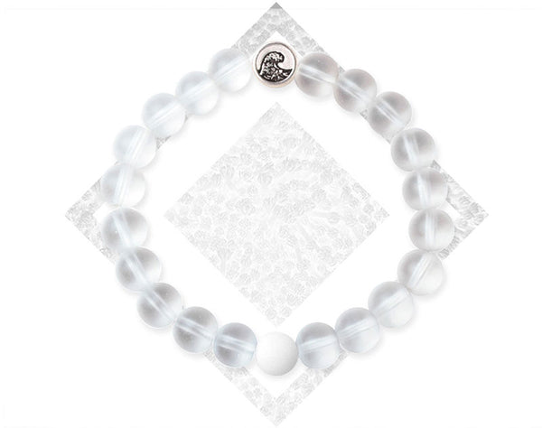 Clear White Coral Bracelet