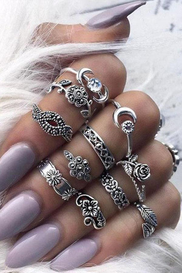 Bohemian 11 Sets Of Combination Rings