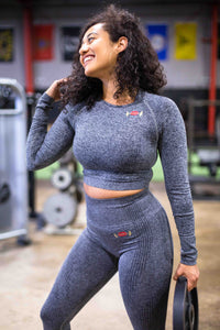 Gym Ready Lips Long Sleeve Top