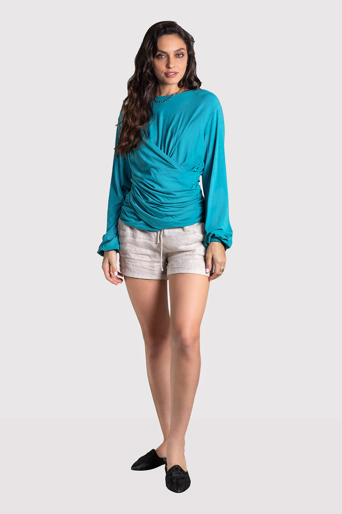 Abra Draped Top