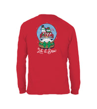Let It Snowglobe- Long Sleeve- Red