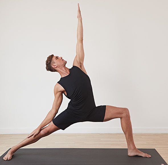 Man doing yoga stretch