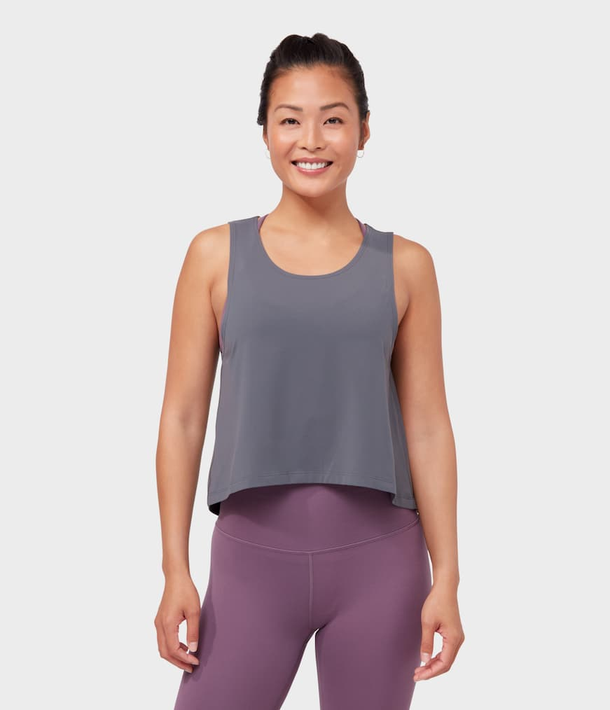 root to rise tank new grey / xs