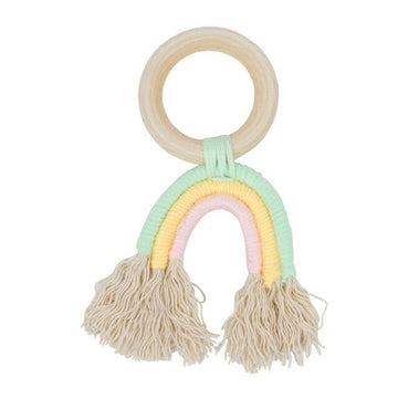 Rainbow Wooden Teether Ring