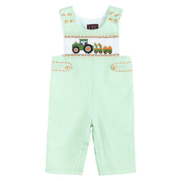Smocked Harvest Truck Longalls - Baby Couture Co.