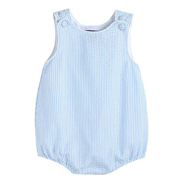 Light Blue Bubble Romper - Baby Couture Co.
