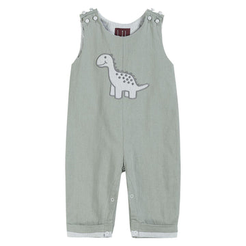 Gray Dinosaur Longalls - Baby Couture Co.