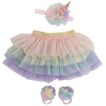 Unicorn Tutu, Headband + Sandal Set - Baby Couture Co.