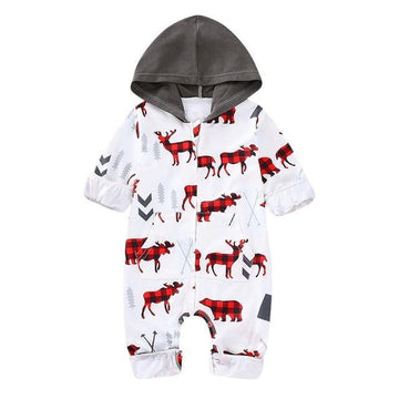Reindeer and Arrows Hooded Christmas Onesie