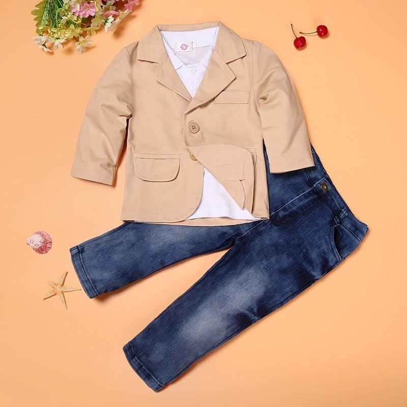 Blazer, Button-down + Jeans Set - Baby Couture Co.