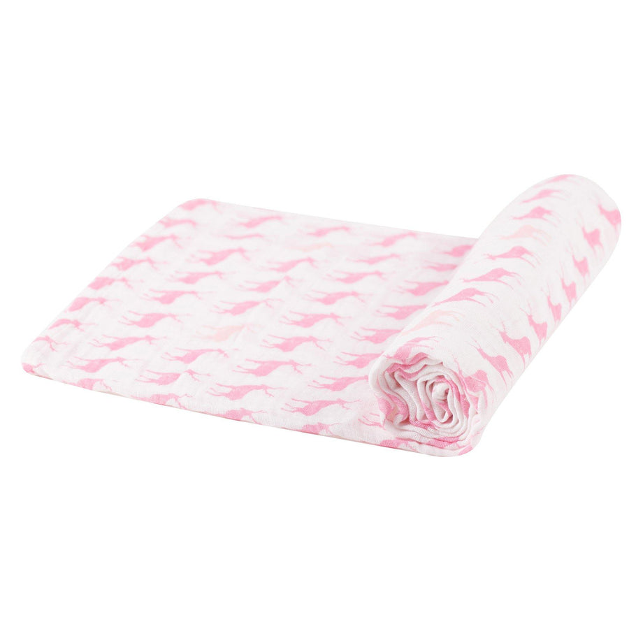 Pink Deer Swaddle - Baby Couture Co.