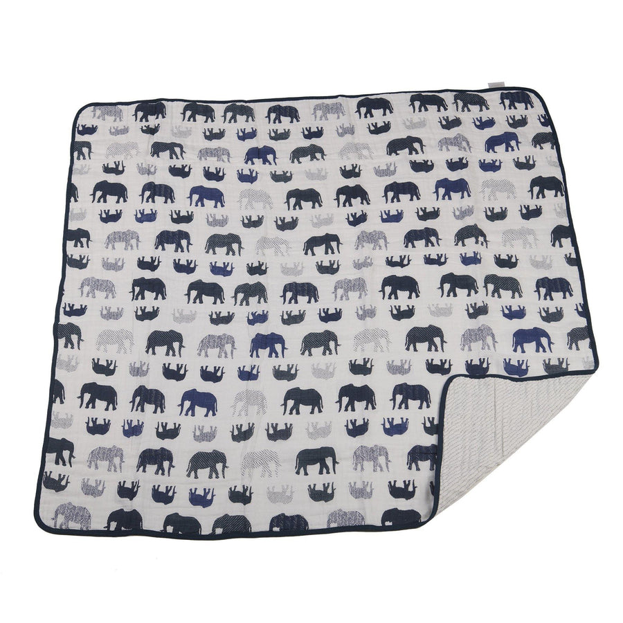 Wild Elephant + Spotted Wave Blanket - Baby Couture Co.