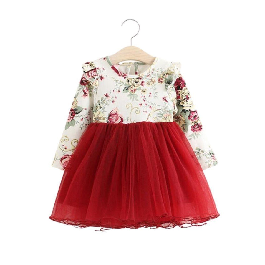Floral Christmas Dress - Baby Couture Co.