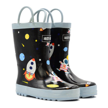 Waterproof Rain Boots - Outer Space - Baby Couture Co.