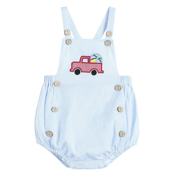 Smocked Truck Bubble Romper