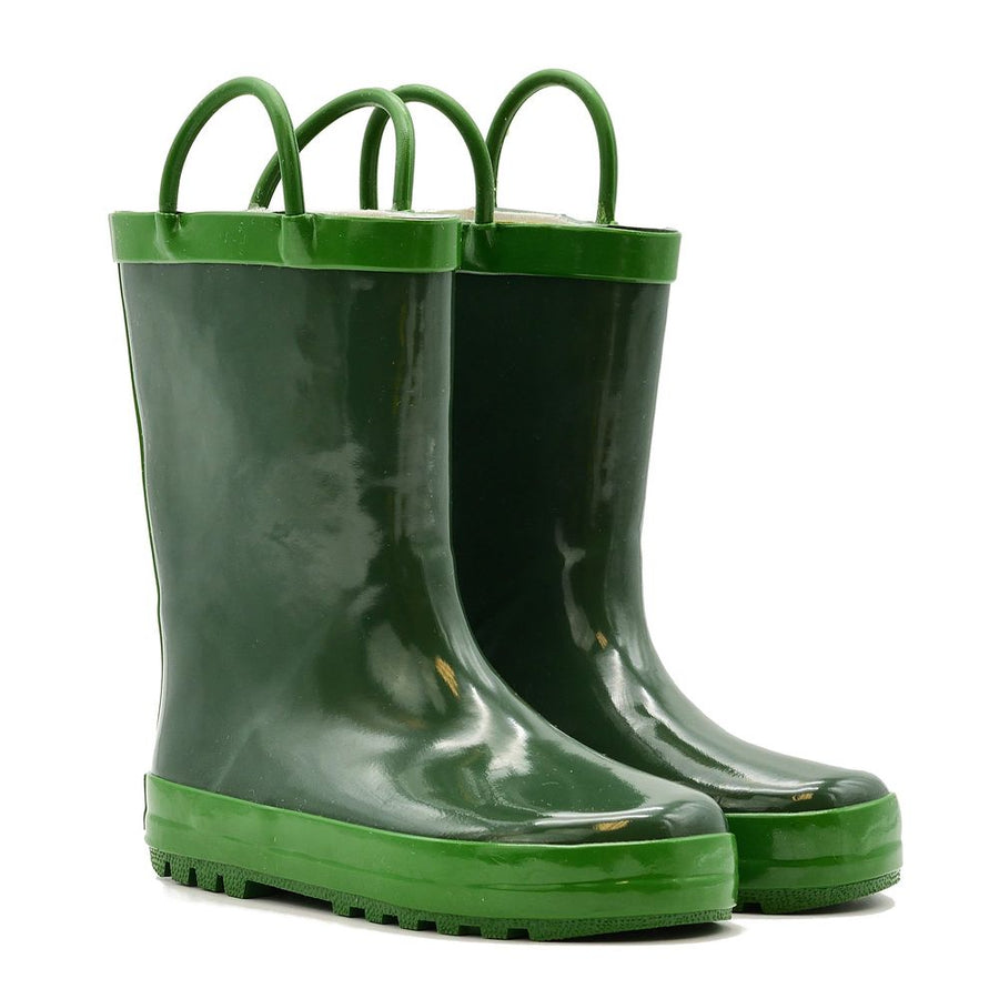 Waterproof Rain Boots - Hunter Green