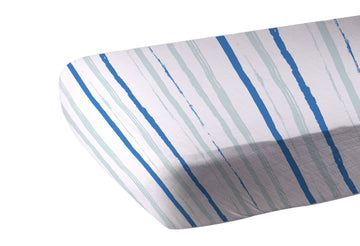 Ocean Stripe Crib Sheet
