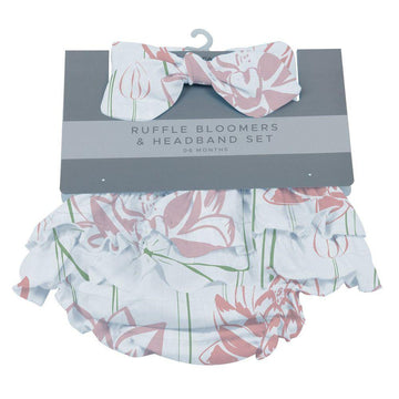 Water Lily Ruffle Bloomers + Headband Set - Baby Couture Co.