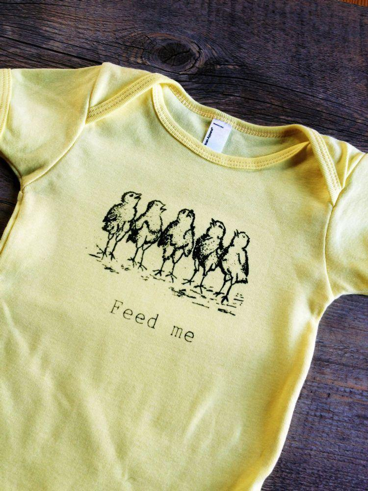 Feed Me Chicks Onesie - Baby Couture Co.