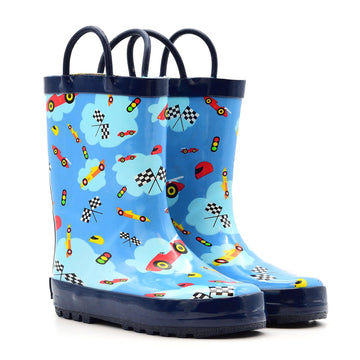 Waterproof Rain Boots - Race Car - Baby Couture Co.