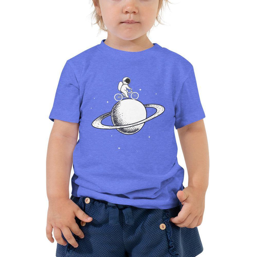 Little Space Explorer on Bicycle Toddler Tee - Baby Couture Co.