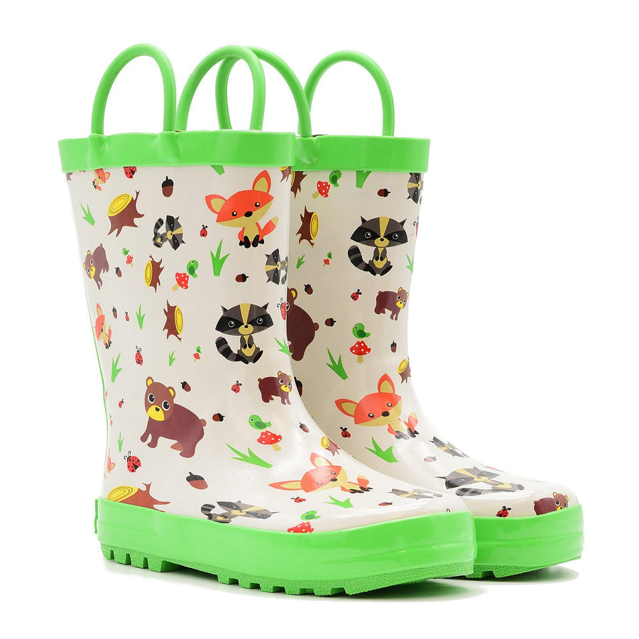 Waterproof Rain Boots - Woodland Critters - Baby Couture Co.