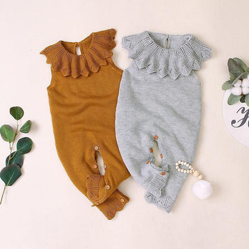 Knitted Autumn Romper - Baby Couture Co.