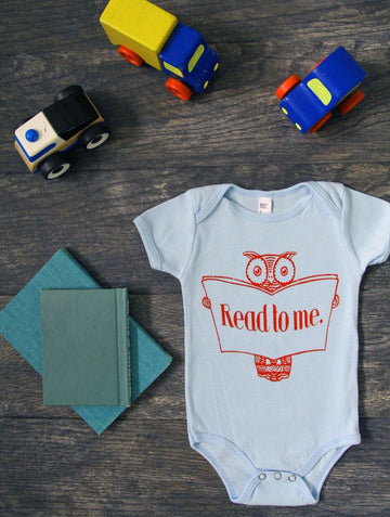 Read to Me Owl Onesie - Baby Couture Co.