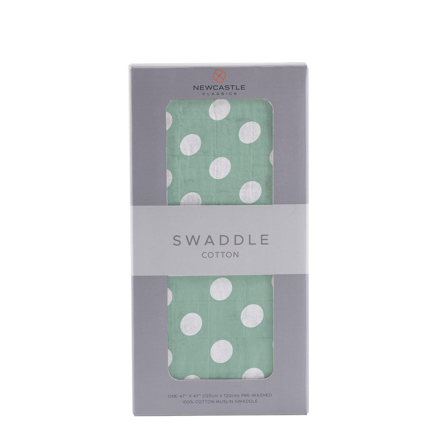 Jade Polka Dot Swaddle - Baby Couture Co.