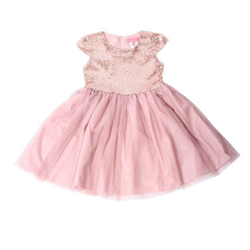 Blush Sequin Dress - Baby Couture Co.