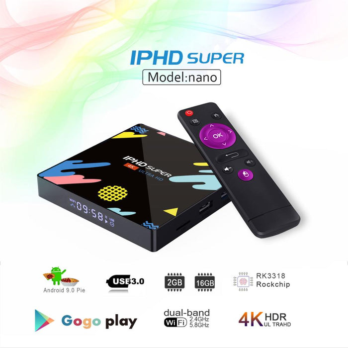 Smart Tv Box Iphd Super Nano 2gb Ram 16gb Android 9.0 Bluetooth Wifi5.0
