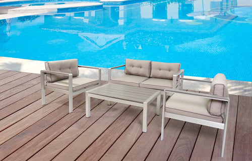 Renava Baja Outdoor Grey Sofa Set