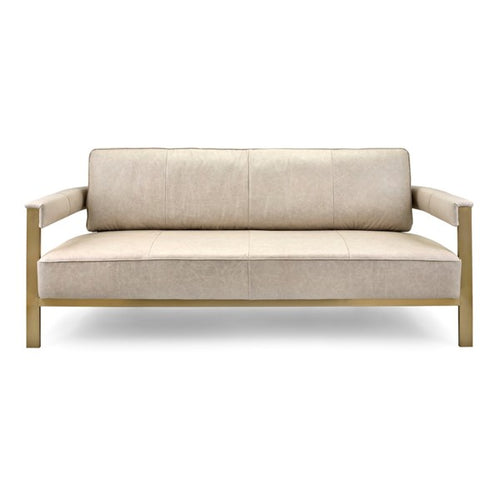 NK Aston Top Grain Leather and Stainless Steel Sofa