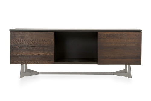 Modrest Wharton Modern Dark Aged Oak TV Stand