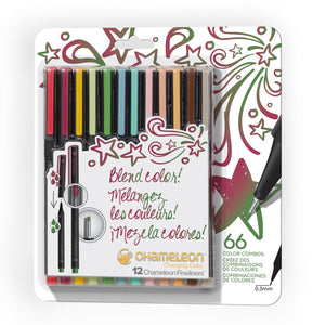 Chameleon Fineliners 12 pack Designer Colors