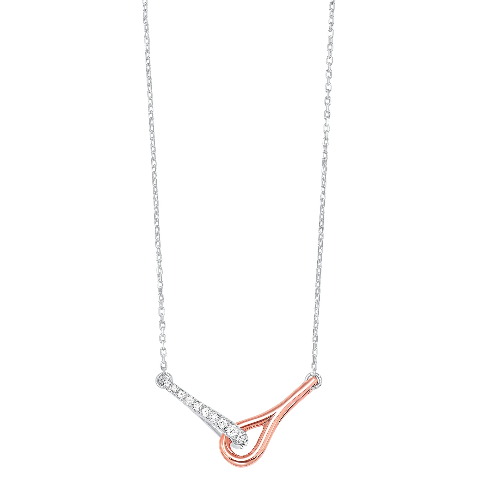 14K & Silver Diamond Necklace