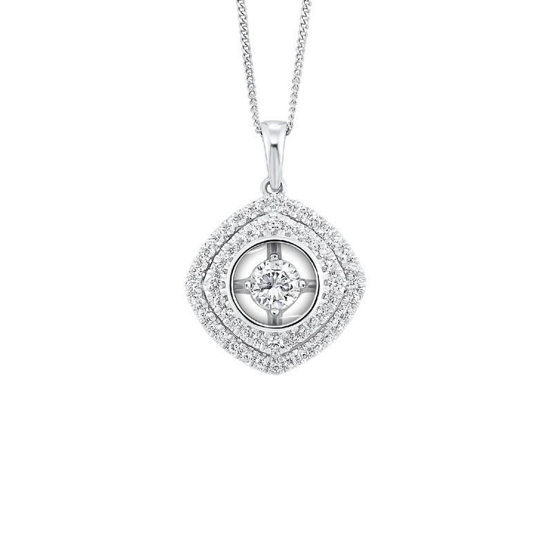 14K White Gold Diamond Pendant 1/4 ct