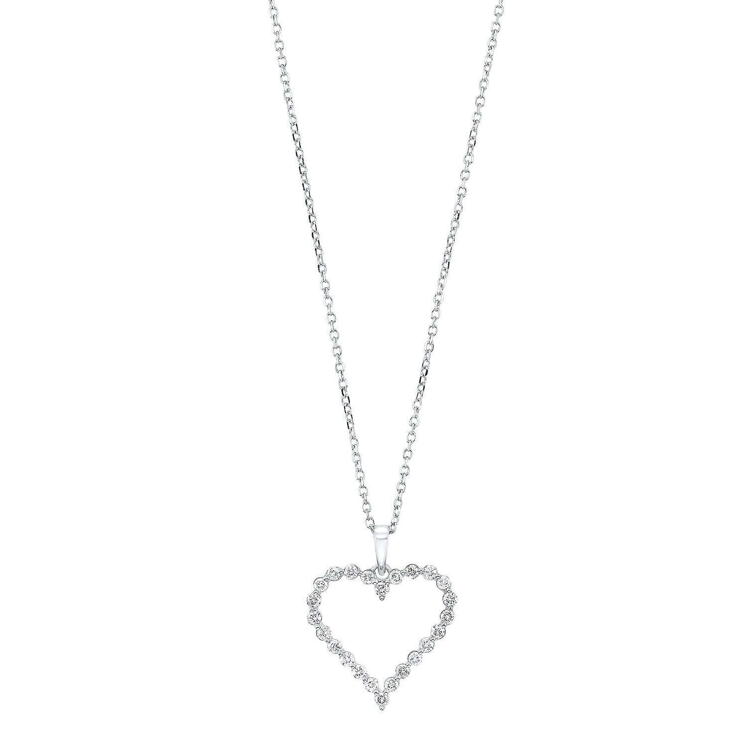Heart Shape 14K Single Prong Pendant