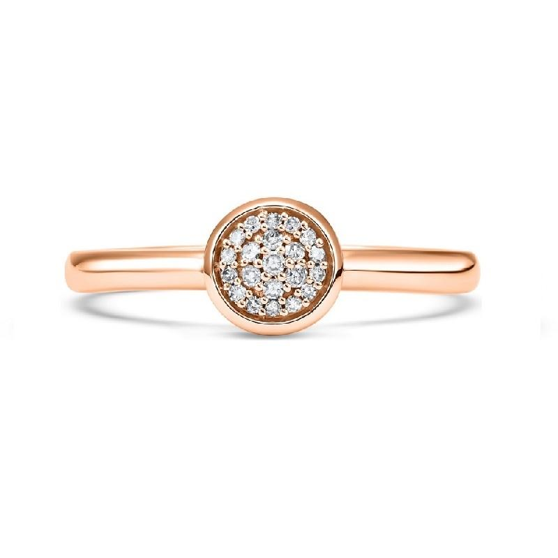 10K Rose Gold Diamond Stackable Ring - 1/10 ct.