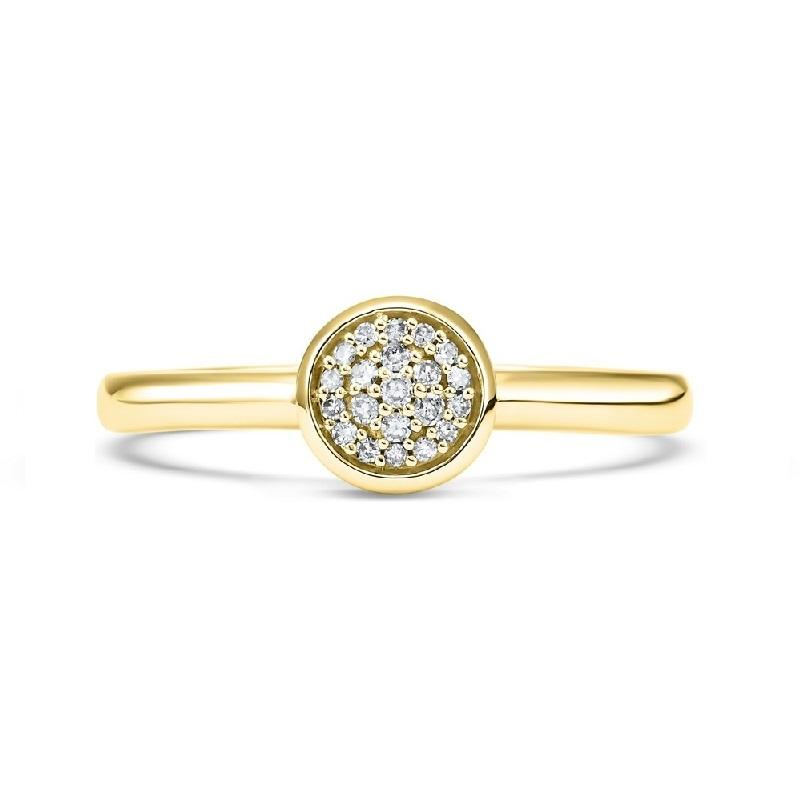 10K Yellow Gold Diamond Mixable Ring 1/10 ct