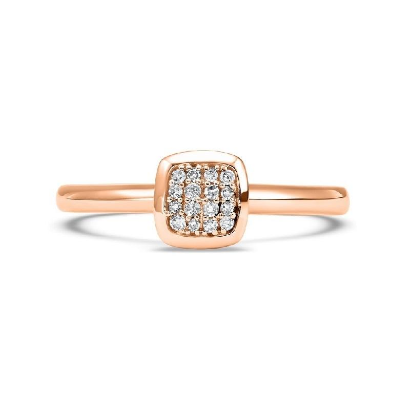14K Rose Gold Diamond Mixable Ring 1/12 ct