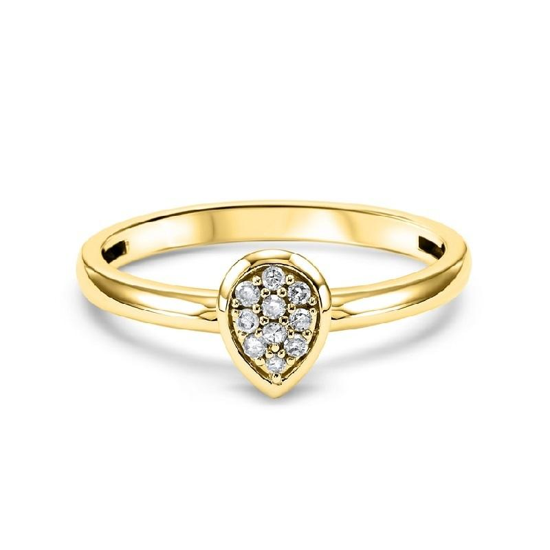 14K Yellow Gold Diamond Fashion Ring - 1/10 ct.